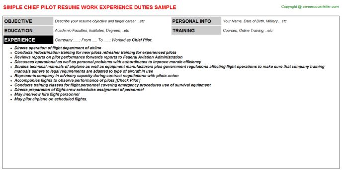 pilot. sample cover letter. aircraft pilot resume ...