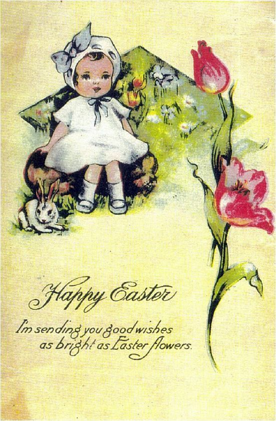 139 best ✿VINTAGE EASTER CARDS images on Pinterest | Easter card ...