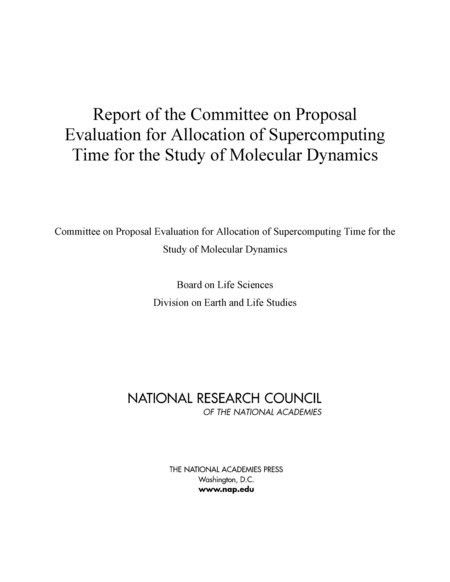Report of the Committee on Proposal Evaluation for Allocation of ...