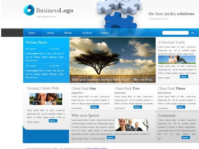 HTML - 2 More Free Web Templates: DesignFirm and BizCompany | Free ...