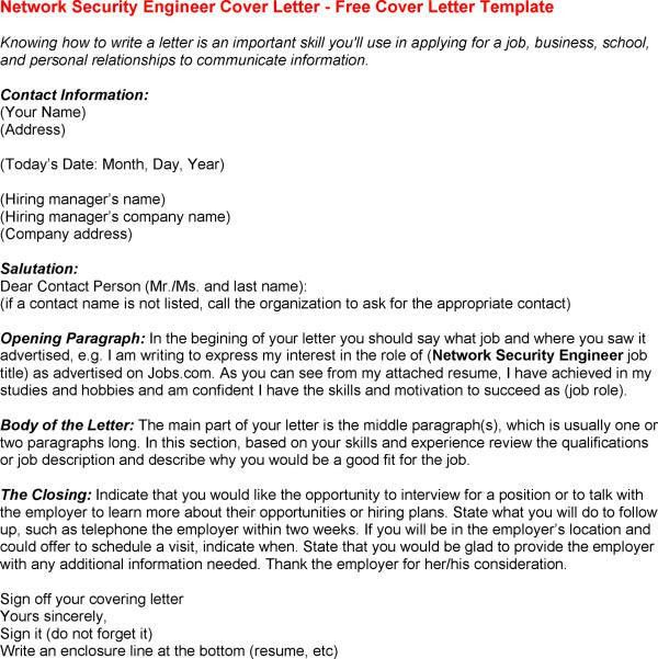 information security cover letter. to security engineer branch s ...