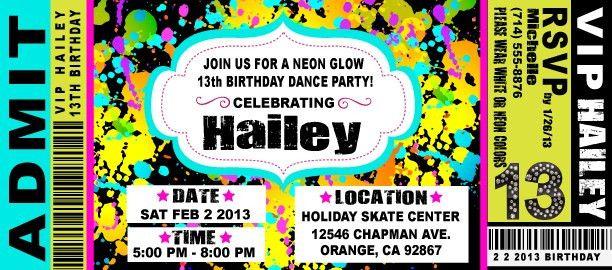 Ticket Party Invitations   cimvitation