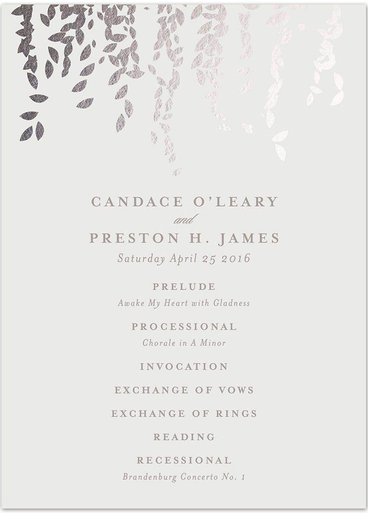 Creative Wedding Ceremony Program DIY Templates