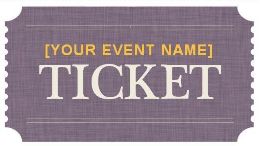 Generic Event Ticket Templates | Formal Word Templates throughout ...
