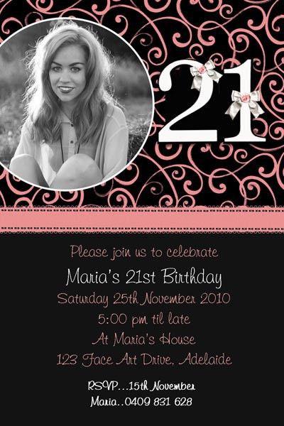 21St Birthday Invitations – gangcraft.net