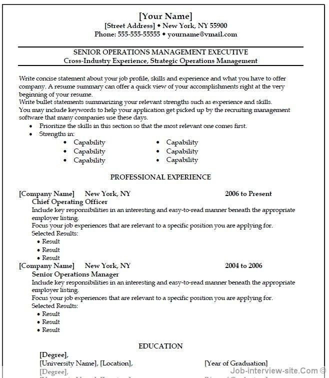 Copy And Paste Resume Template – bikeboulevardstucson.com