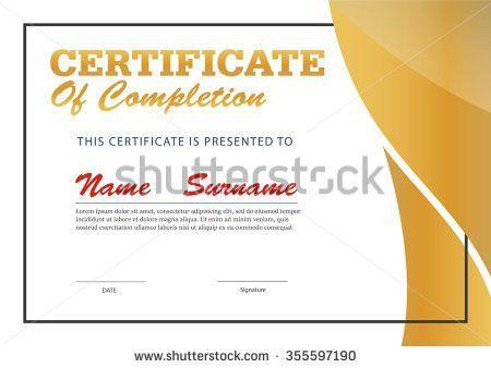 Red Certificate Template Vector Stock Vector 420958234 - Shutterstock