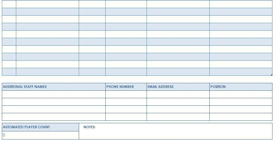Training Roster Template. Spreadsheet Example:Excel Employee ...