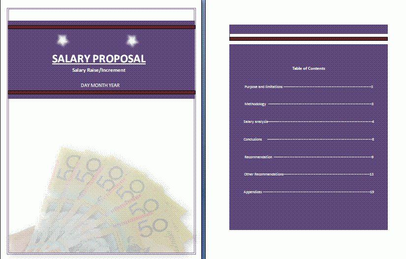 Salary Increment Proposal Template | Free Proposal Templates