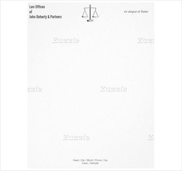 Legal Letterhead Template – 16+ Free PSD, EPS, AI, Illustrator ...