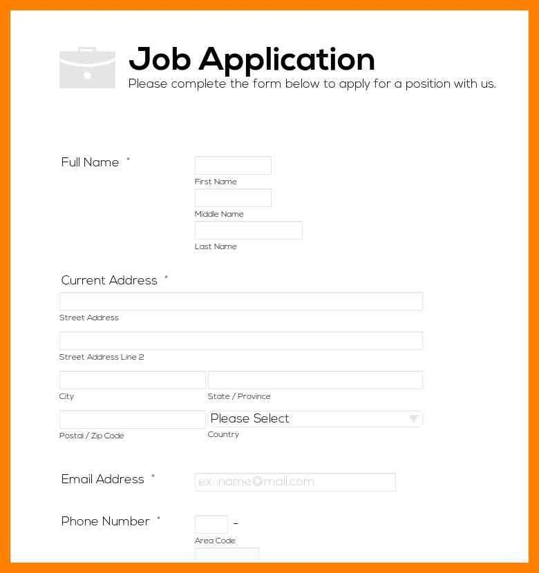 6+ simple job application form | simple cv formate