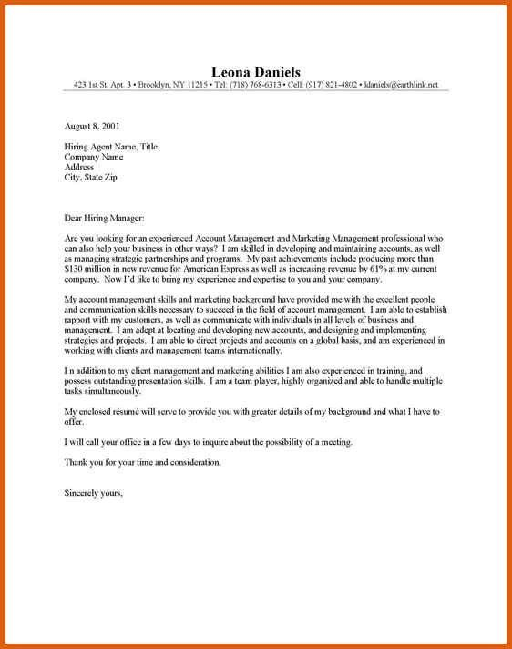 online cover letter format | apa examples