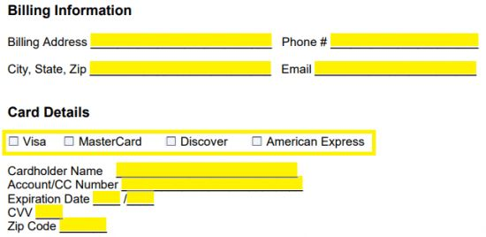 Free Recurring Credit Card Payment Authorization Form - PDF - Word