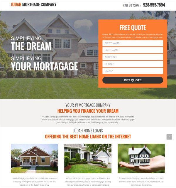11+ Real Estate Landing Page Themes & Templates   Free & Premium ...