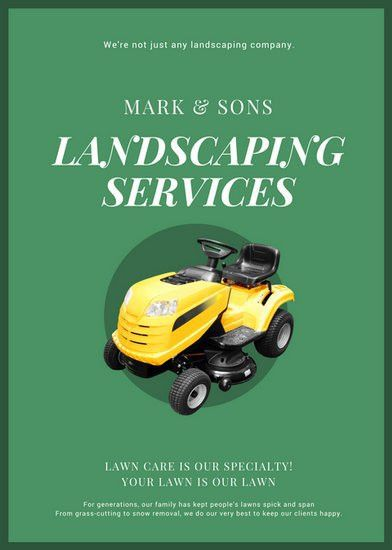 Landscaping Flyer Templates - Canva