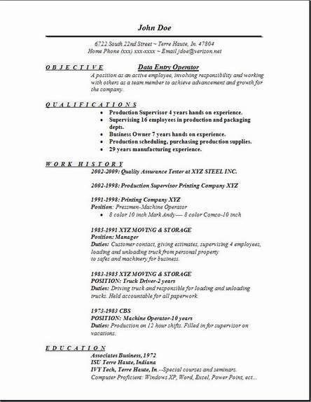 Data Entry Operator Resume, Occupational:examples,samples Free ...