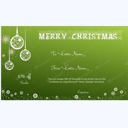 Christmas Gift Certificate and Voucher Templates - Word Layouts