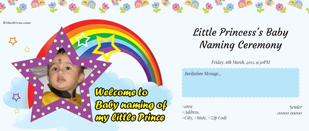Free Naming Ceremony / Namakaran Invitation Card & Online Invitations