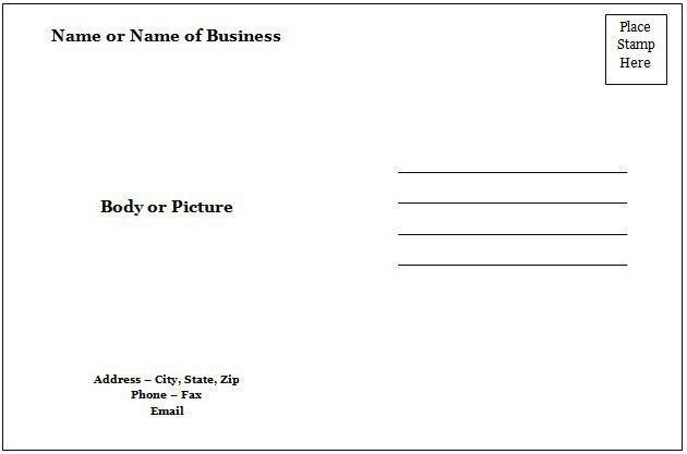 Free Postcard Template For Microsoft Word | pikpaknews