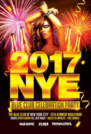 Free New Years Eve Flyer Template | Awesomeflyer.com