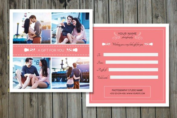 Photography Gift Certificate Template – 13+ Free Word, PDF, PSD ...
