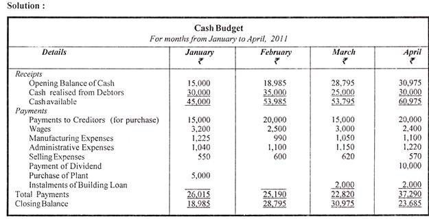How to Prepare Cash Budget ? (With Examples)   Capital Management