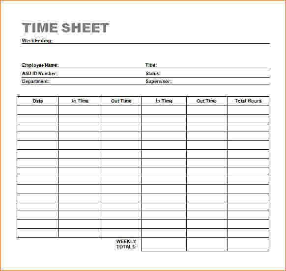 time sheets free download