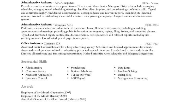 Resume Professional Profile Examples Professional Profile Examples ...