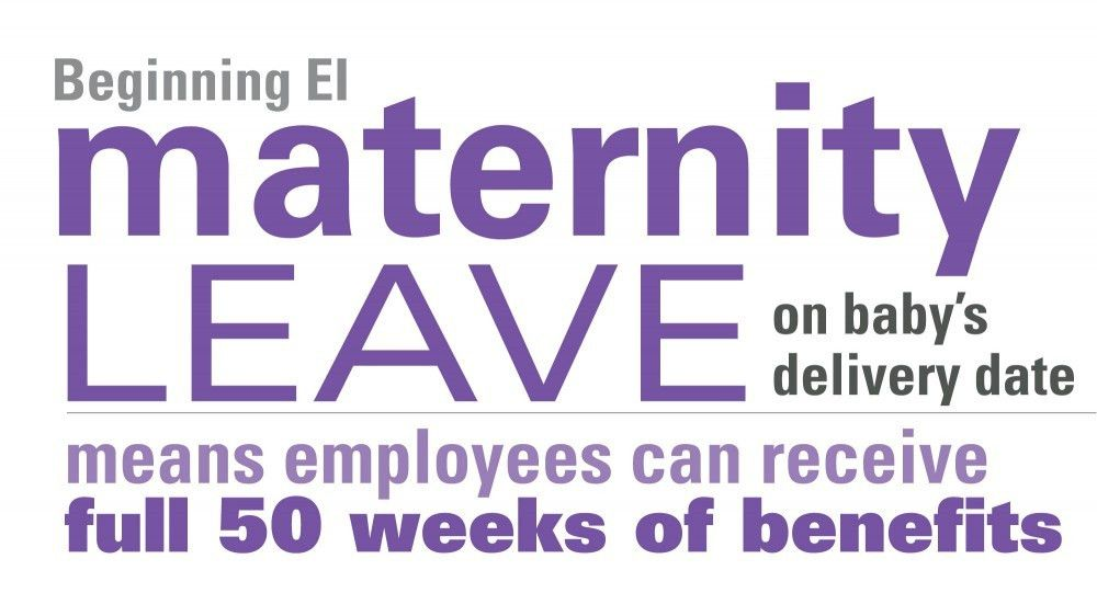 Beginning EI Maternity Leave on baby's delivery date means ...