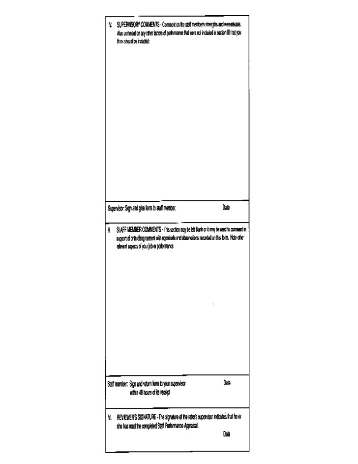 Staff Performance Appraisal Form B Free Download