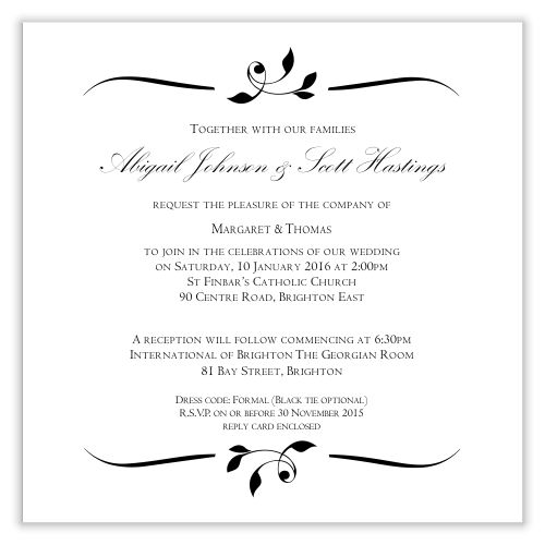 Wedding Invite Template - Kawaiitheo.Com