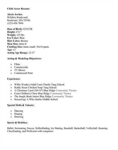 Pin Child Actor Resume 2 338 picture to pinterest.