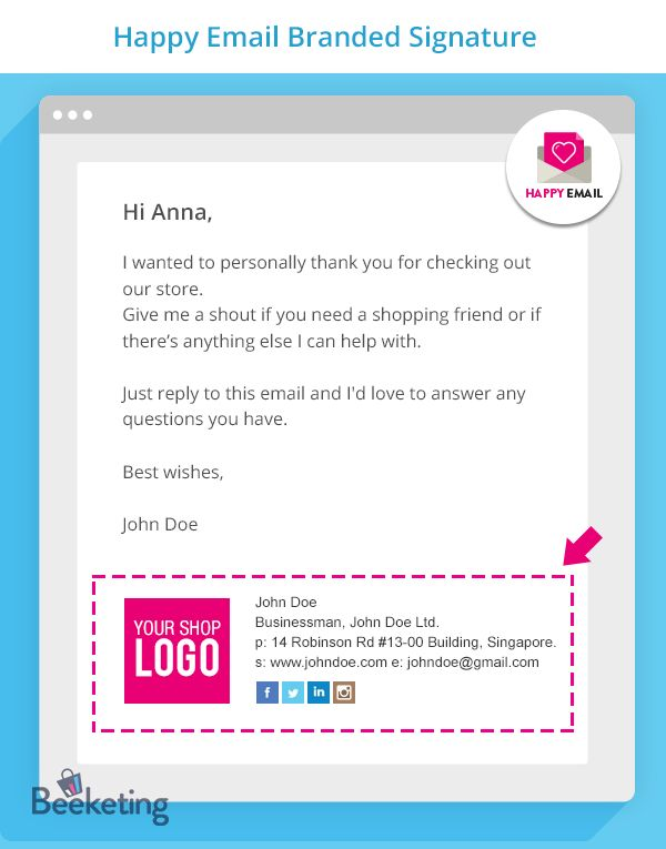 Happy Email | Thank-you Emails from Founder