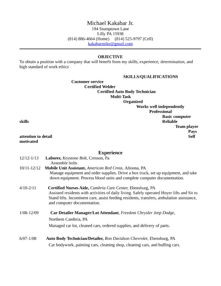 Professional Lot Attendant Resume Template