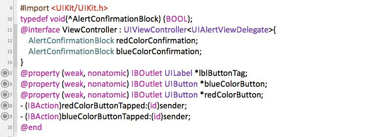 Example on usage of Objective C Blocks ( Method and Alert View ...