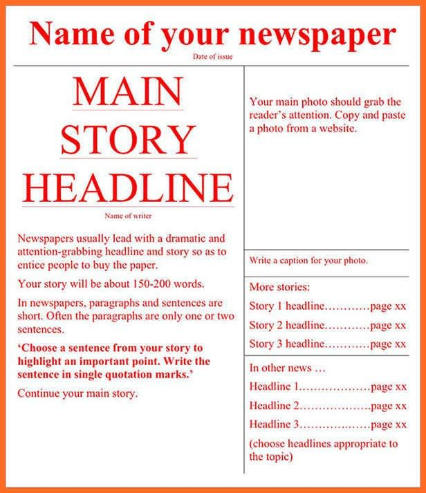 free newspaper template | soap format