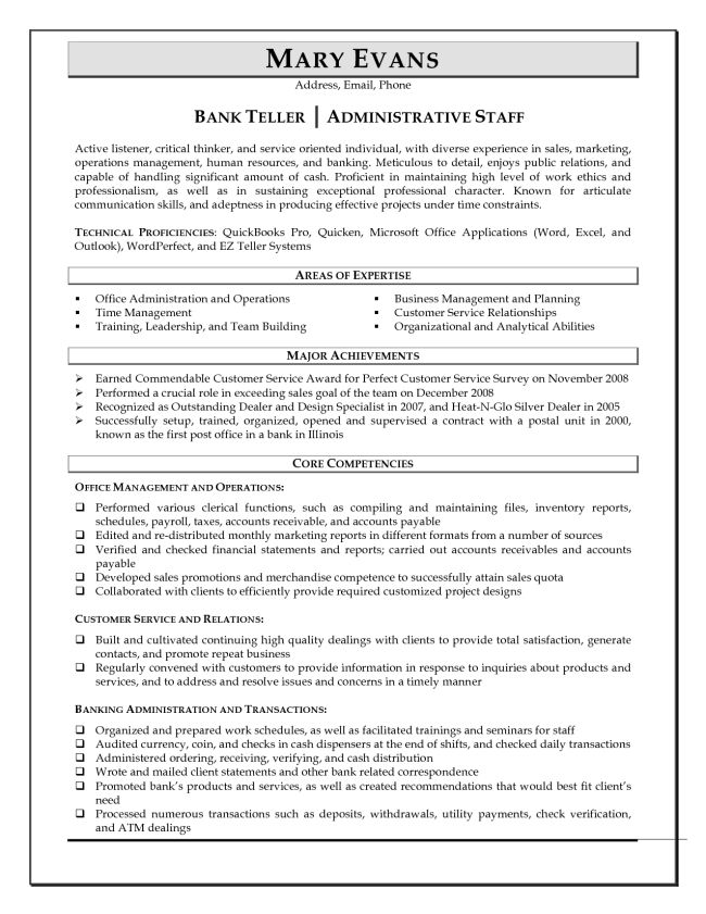 Download Head Teller Resume | haadyaooverbayresort.com