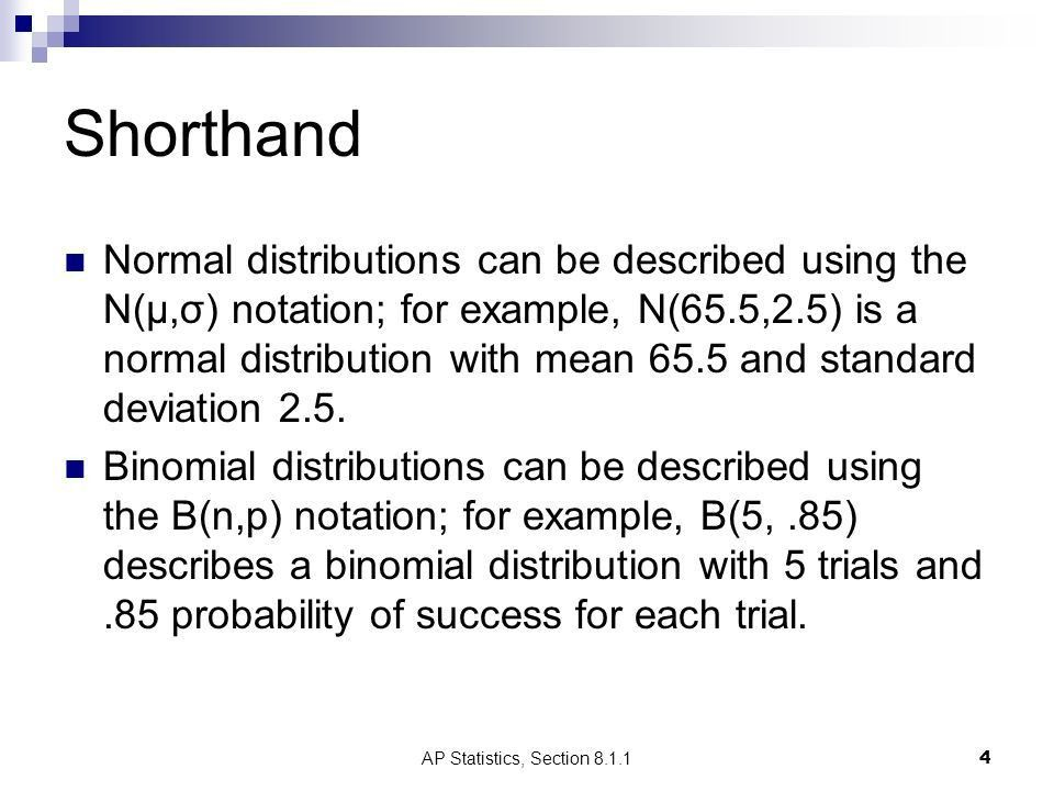 Section Binomial Distributions AP Statistics - ppt download