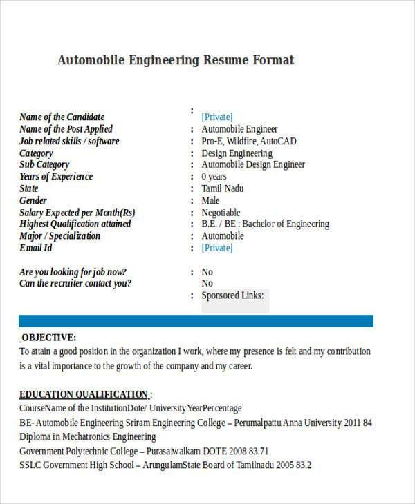 47+ Engineering Resume Samples | Free & Premium Templates