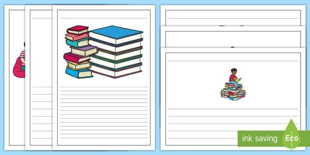 Book Review Writing Template - book, books, writing template