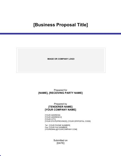 Business Proposal - Template & Sample Form | Biztree.com