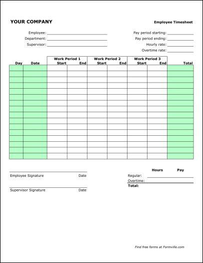 Monthly Timesheet Template. Free Timesheet Template Word Monthly ...