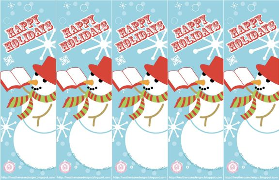 Printable Christmas Bookmarks – Happy Holidays!