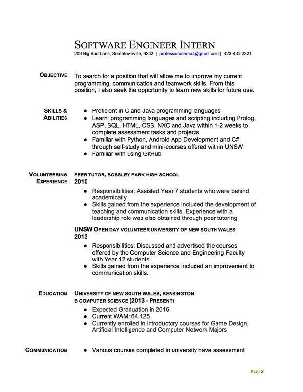 resumes samples for teachers secondary school teacher resume ...