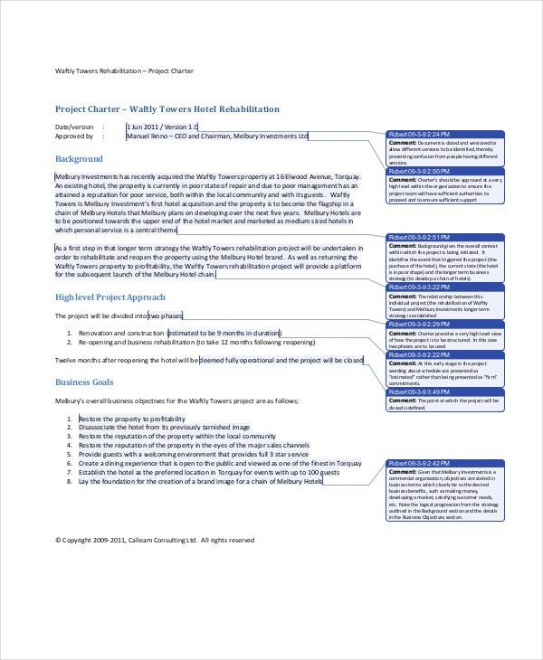 Project Charter Template - 10+ Free Word, PDF Documents Download ...