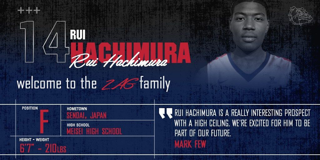 GoZags.com MBB Signs Hachimura to National Letter of Intent ...