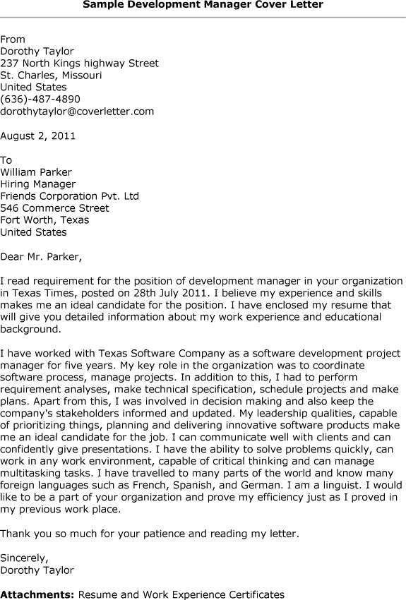 Cover letter for job posted online
