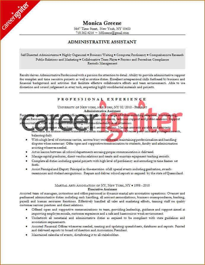 Administrative assistant resume examples - Business Proposal ...