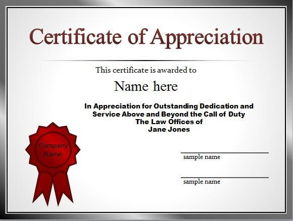 Certificates of appreciation wording samples certificate of 30 free certificate of appreciation templates and letters yadclub Choice Image