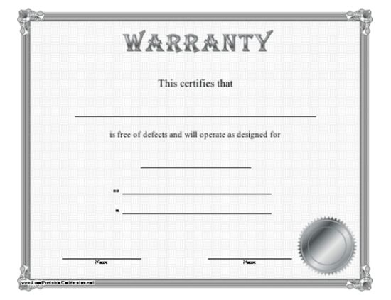 5 Printable Certificate of Authenticity Templates {DOC / PDF / EPS ...